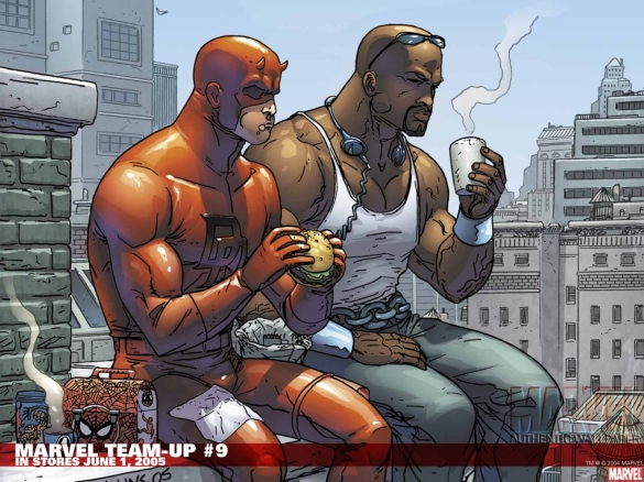 Dare Devil, Luke Cage and a Sammich